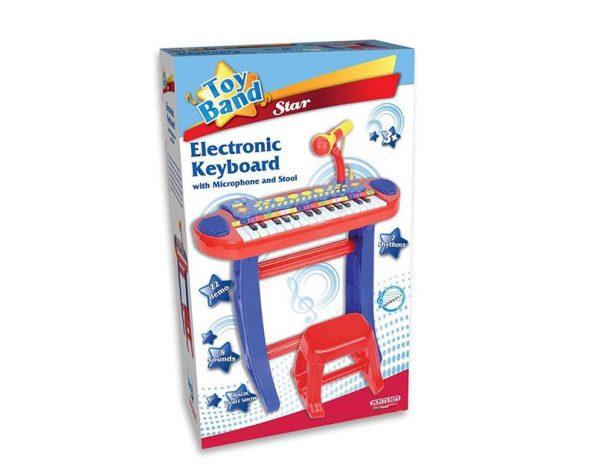 Tastiera elettronica tasti con microfono e sgabello bontempi