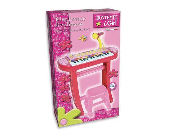 Tastiera elettronica igirl tasti con microfono e sgabello